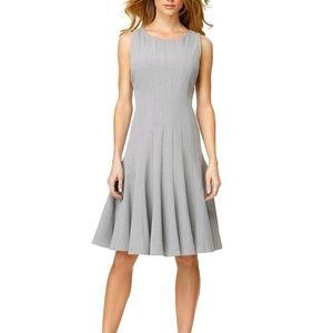Calvin Klein Vertical Seam Fit & Flare Midi Dress